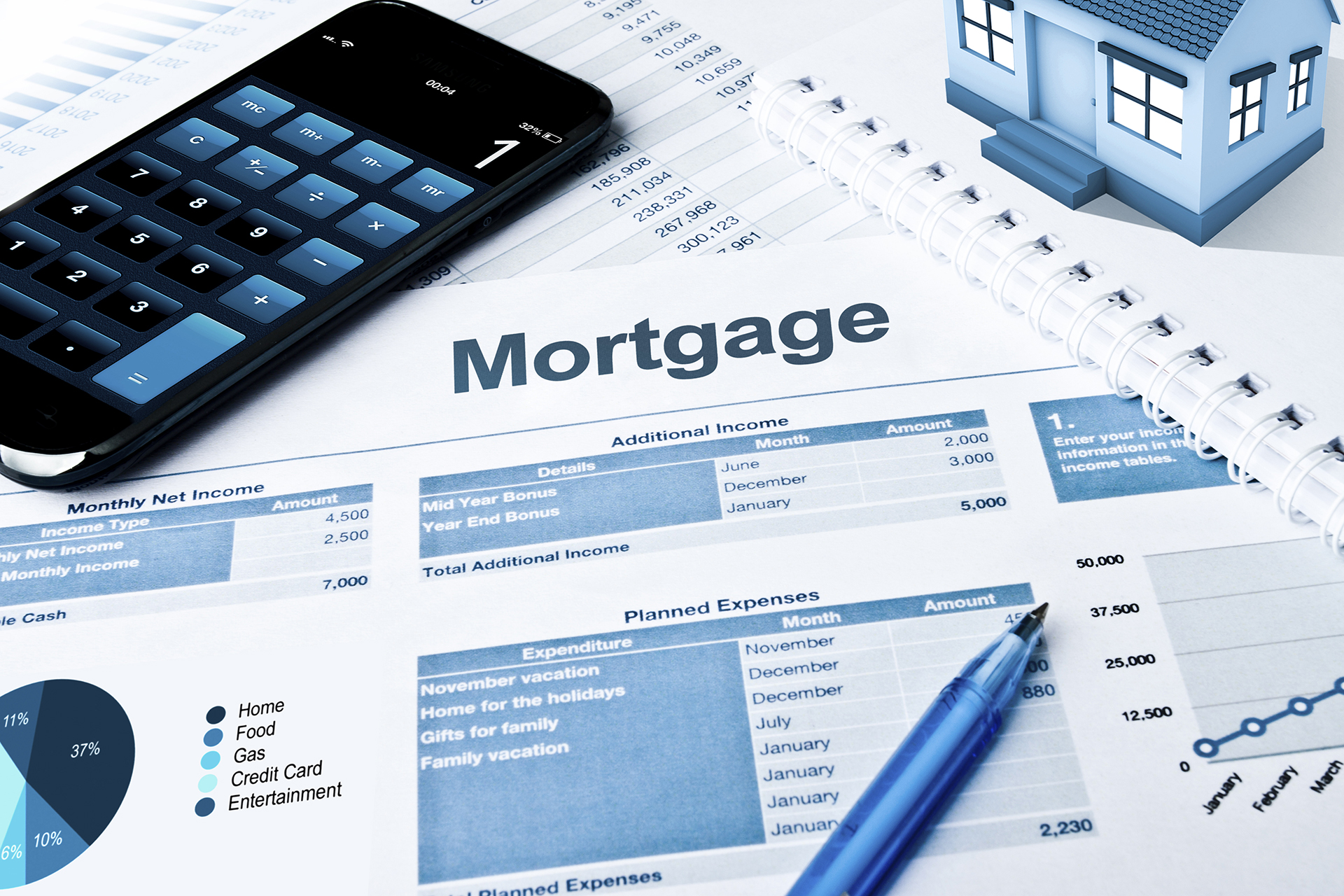 Home mortgage interest deductions for Mortgage loan to build a house