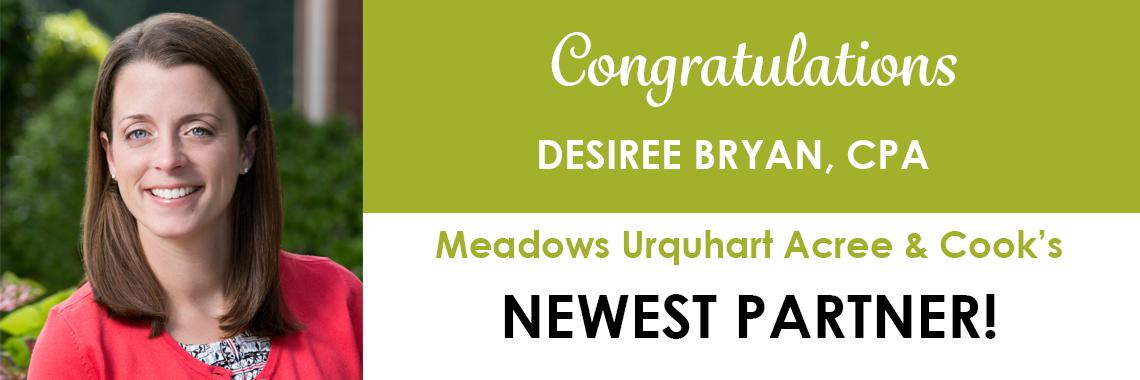 Congratulations Desiree Bryan!